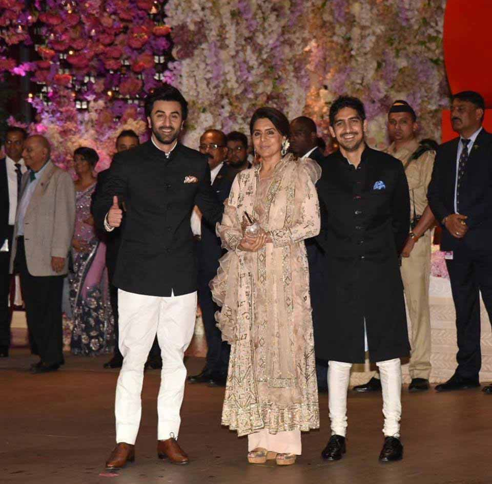 Ranbir Kapoor at Akash Ambani engagement