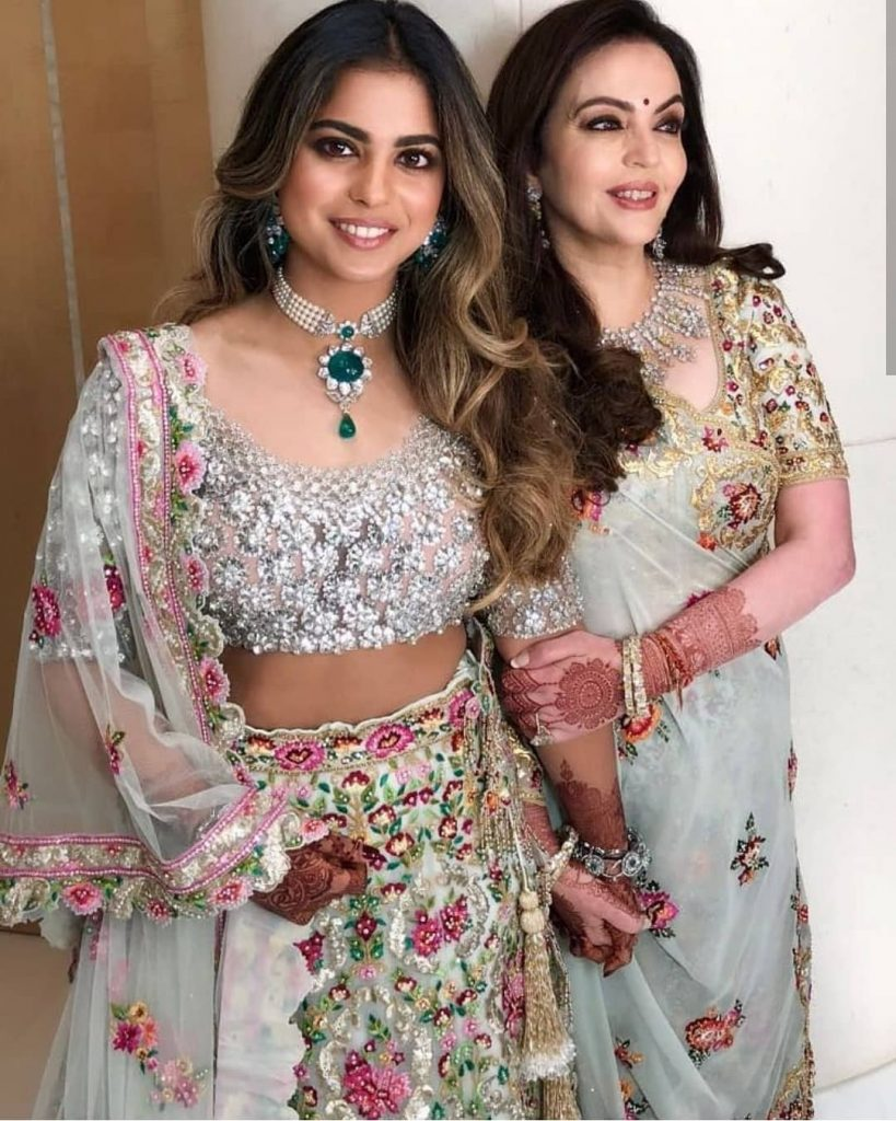 Neeta Ambani at Akash Ambani engagement