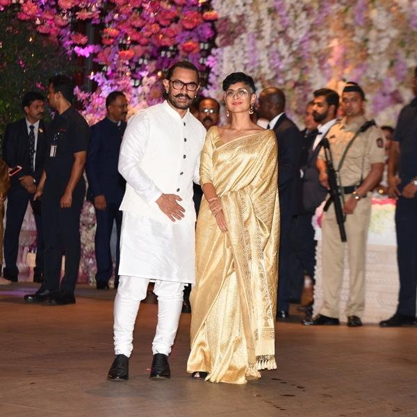 Aamir Khan at Akash Ambani engagement