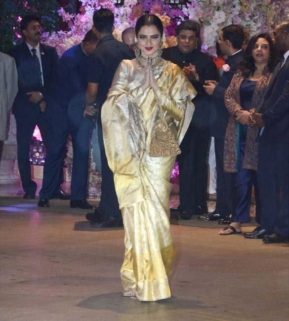Rekha Ji at Akash Ambani engagement