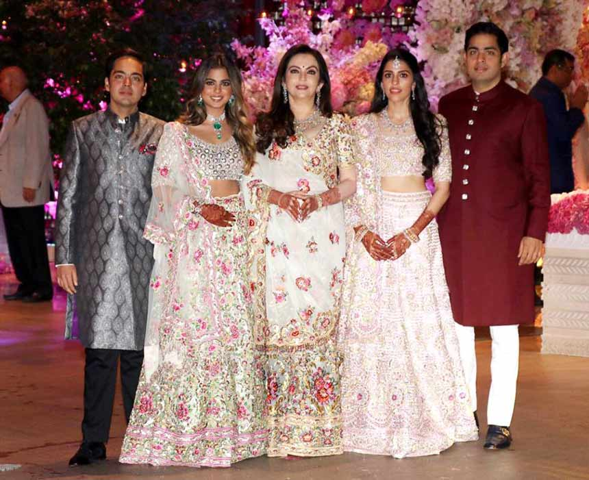 Ambani Family at Akash Ambani engagement