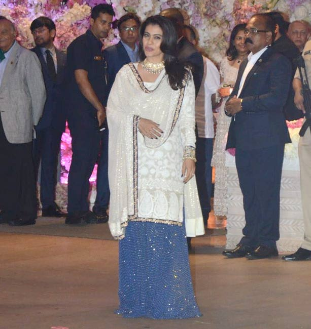 Kajol at Akash Ambani engagement