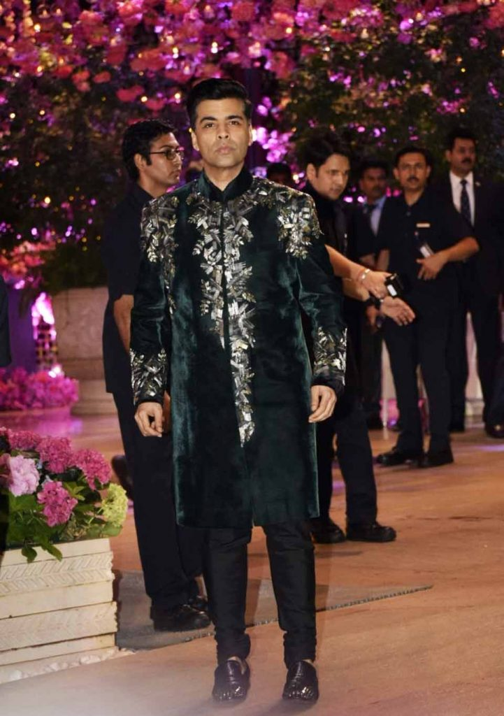 Karan Johar at Akash Ambani engagement