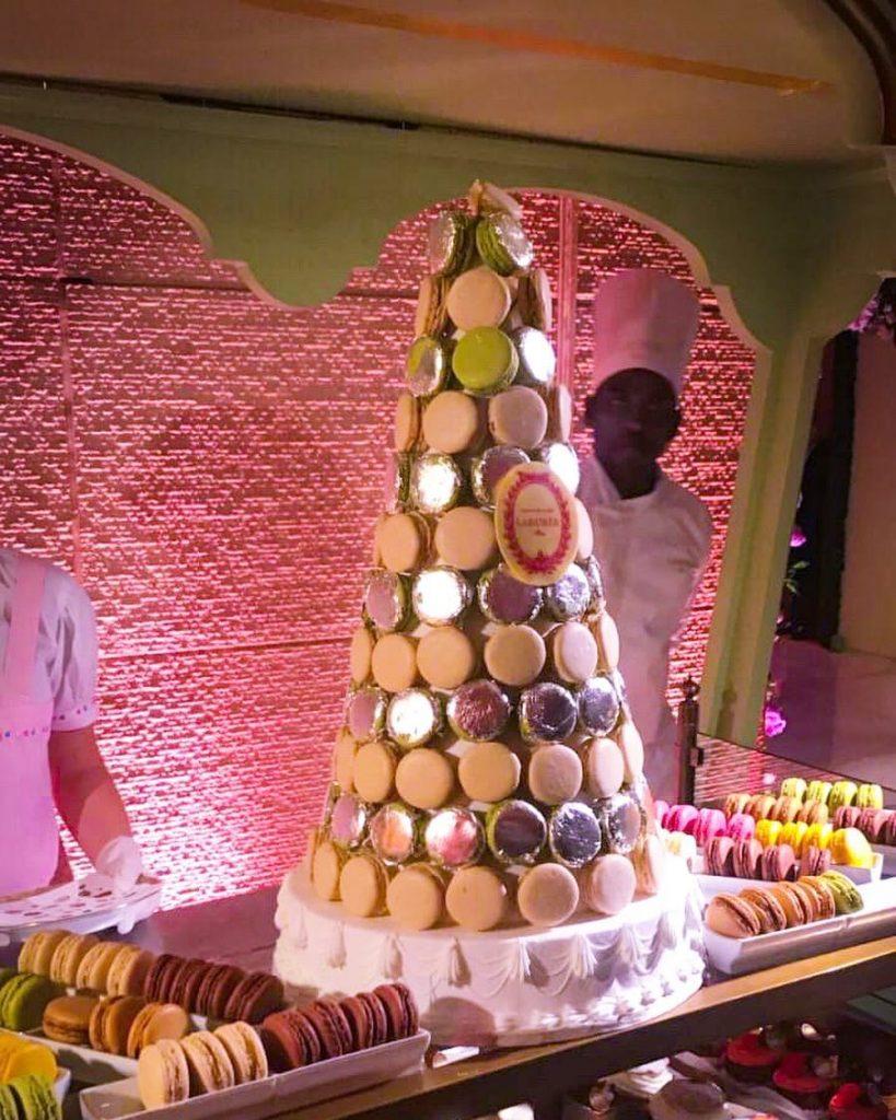 french macarons in akash ambani engagement