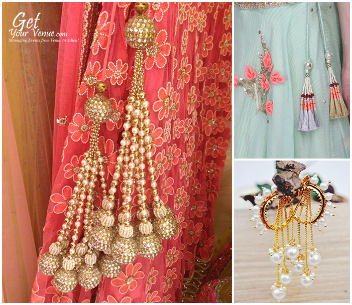 pearl latkans for wedding outfit