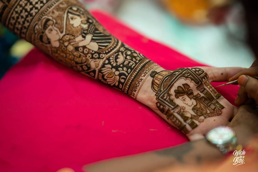 Soon To Be Wed Couple Mehndi Design