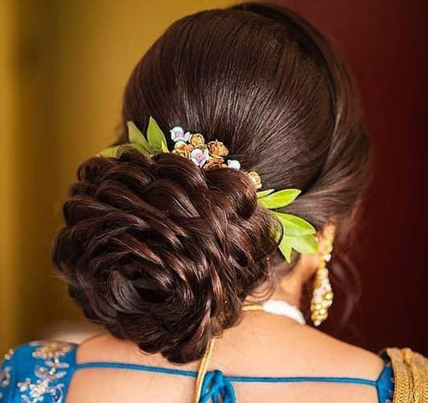 floral bun ideas 5