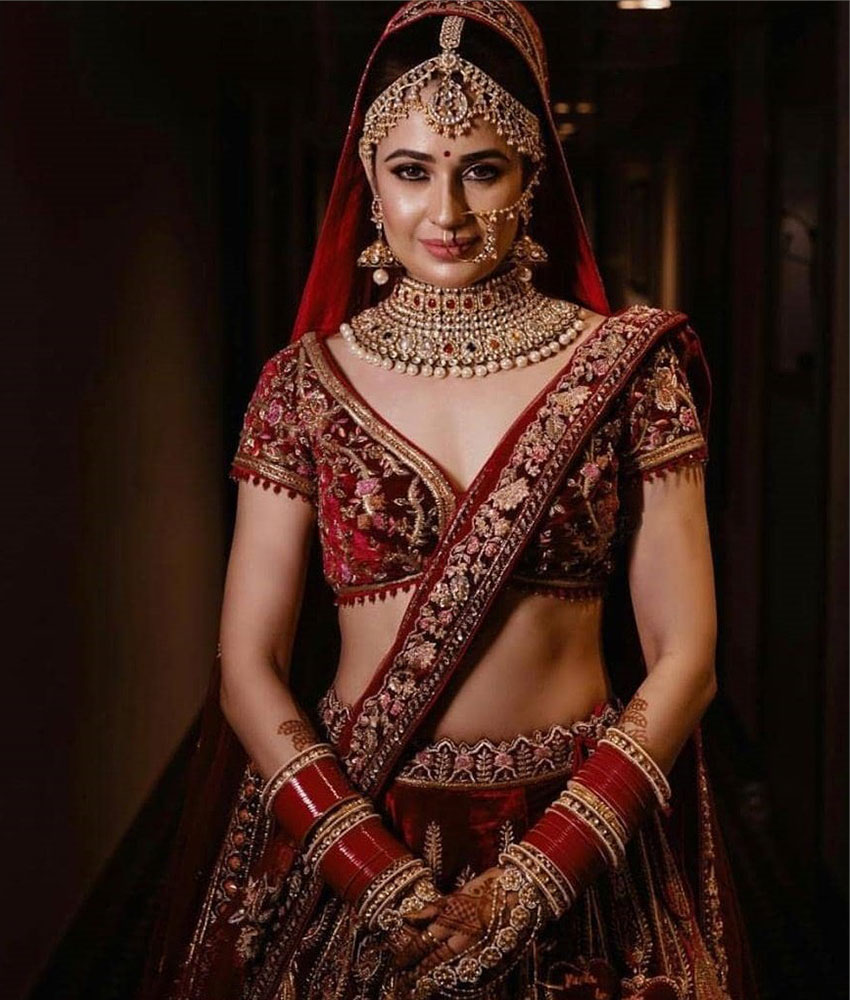 Bridal Lehenga Red Shades 8