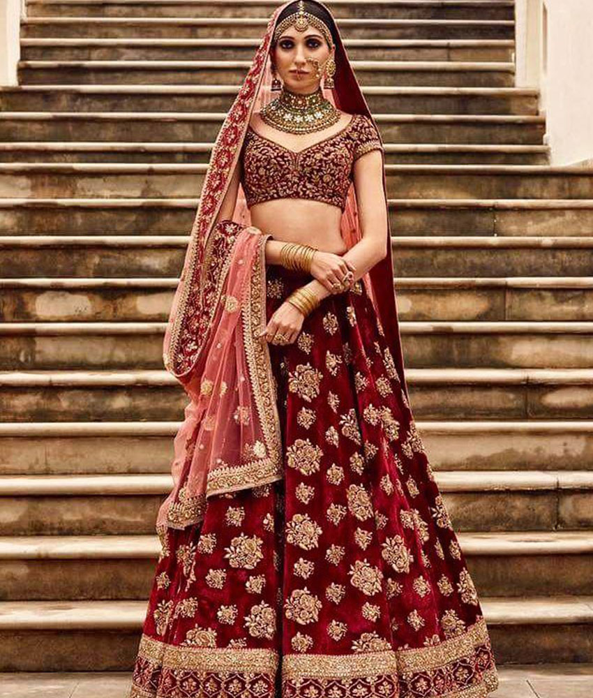 Bridal Lehenga Red Shades 9